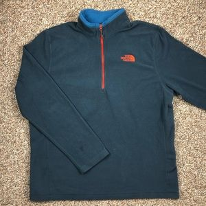The North Face 1/4 zip fleece pullover jacket L